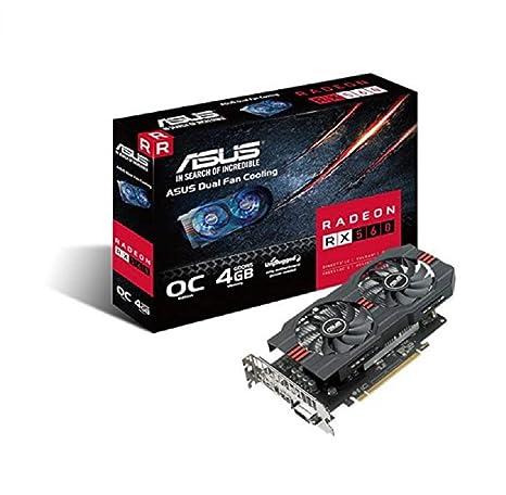 ASUS Radeon RX 560 (4 GB) Tarjeta gráfica PCI-E HDMI/DisplayPort ...
