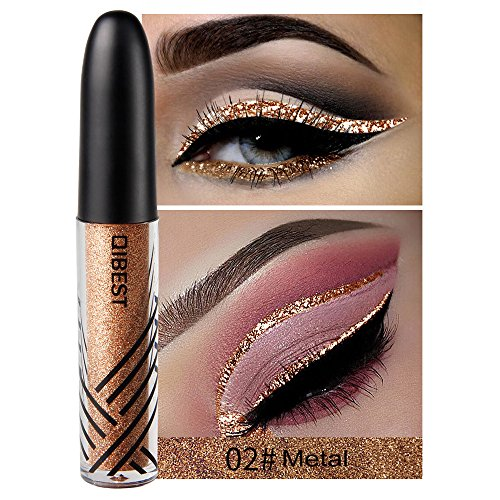 13 Shades Eyeliner Metallic Shiny Smoky Eyes Eyeshadow Waterproof Glitter Liquid Beauty Eyeliner (2#)
