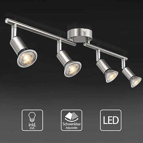 Uchrolls Foco LED para techo I 4 vías lamparas de techo led ...