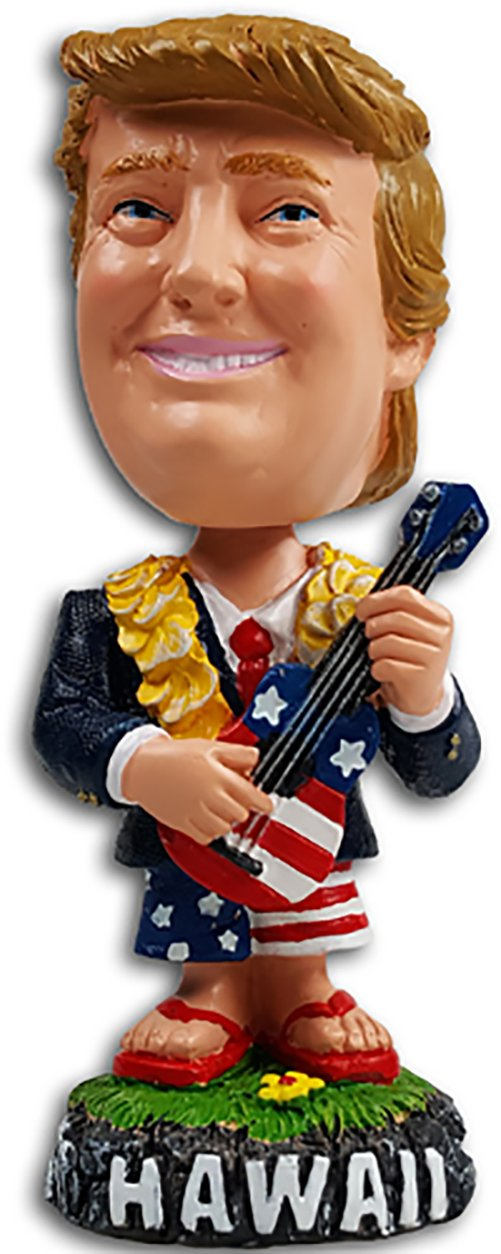 President Trump Hawaii Bobble Head Dashboard Doll Ukulele