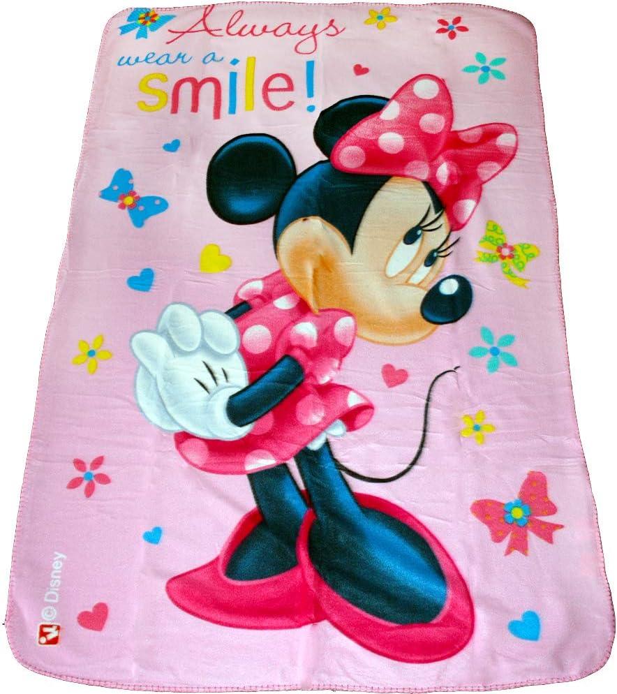 Disney Couverture en Polaire Motif Minnie Mouse Multicolore