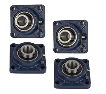 1-1//4 KANIGEN SET SCREW RF BLACK 4-BOLT FLANGE AMI NEW! UCFPL206-20MZ20RFB