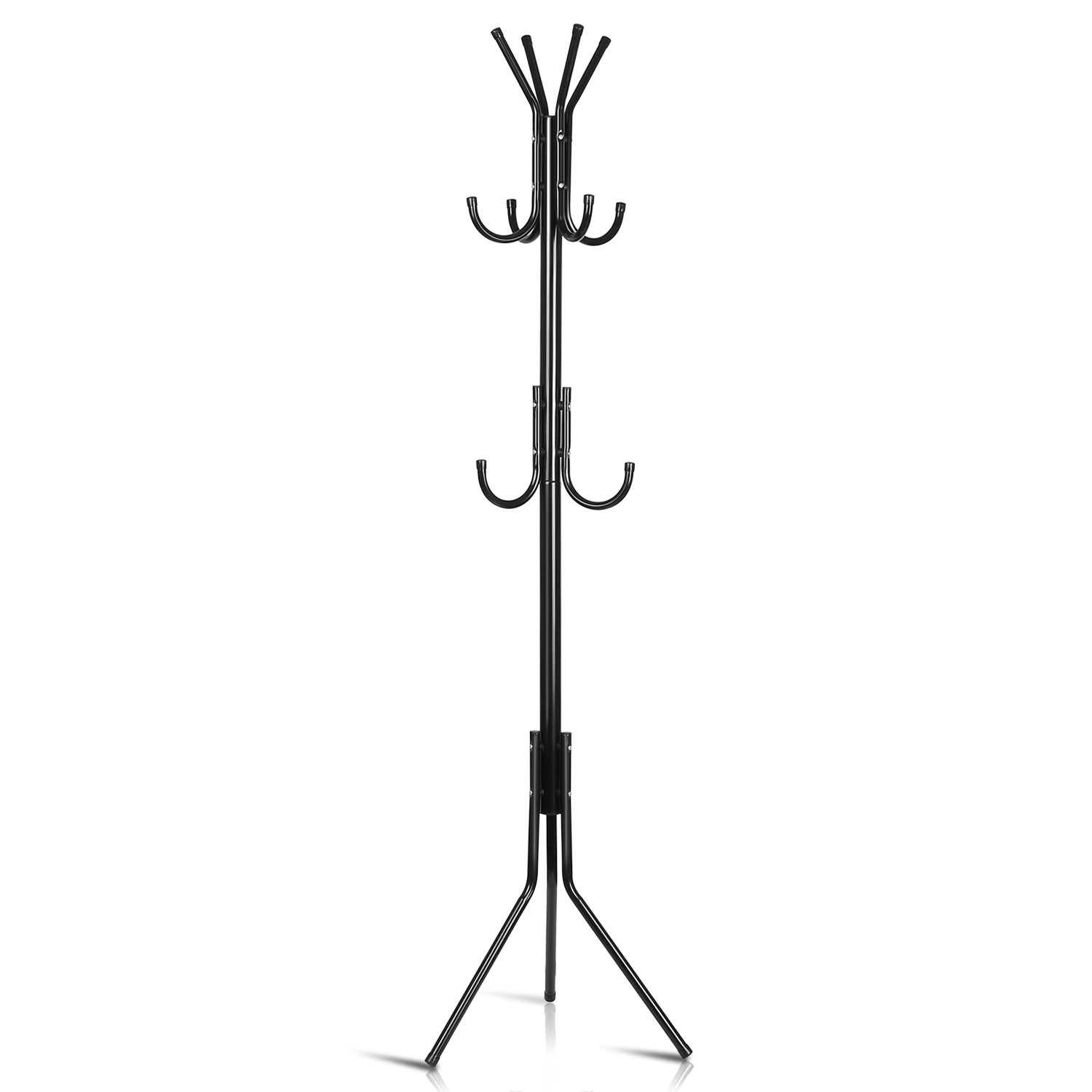 Amazon.com: INTEY Standing Coat Rack, Hanger Holder Hooks ...
