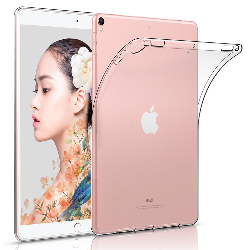 hzssec Case For New iPad 2017 9.7インチ、ウルトラスリム軽量smart-shell自動ウェイクアップ/スリープスタンド機能付きスタンドカバーfor Apple新しいiPad 9.7 2017リリースタブレット  透明 B07LFZG8WR