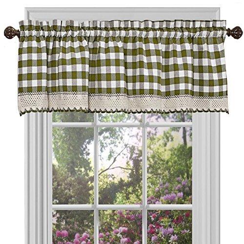 (Achim Home Furnishings Buffalo Check Window Curtain Valance, 58
