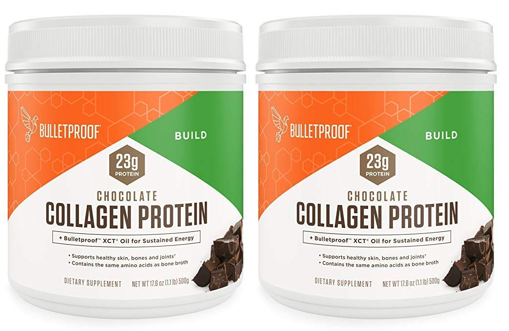 Bulletproof Collagen Protein Powder - Chocolate Flavor - Ketogenic Diet, Pasture Raised, Amino Acid Building Blocks for High Performance (17.6 Ounces) (Pack of 2) by Bulletproof