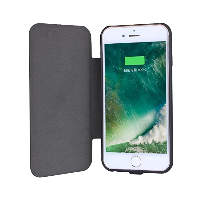 new products 0eeac 1e4c3 UPsztec 5.5 Inch Solar Battery Clip Charger Case 5000 mAh Power bank For  Iphone 6plus 6splus 7plus 7S Plus(Black) (for iphone 6 plus/6s plus/7  plus/7s ...