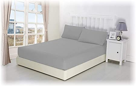 """Deep Fitted Sheet PERCALE Fitted Bed Sheet All Size Luxury Extra Deep 30cm 12/"""""""