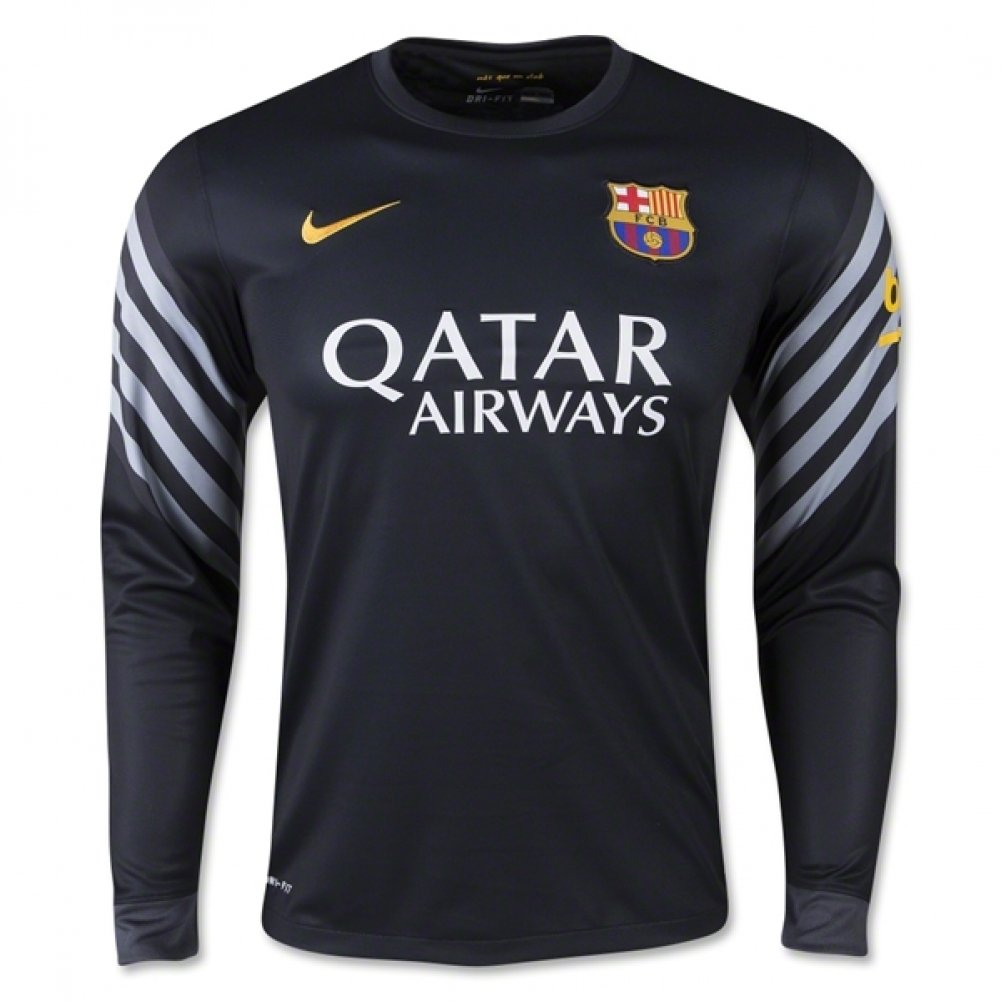 2015-2016 Barcelona Home Nike Goalkeeper Shirt (schwarz)