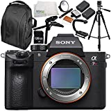 Sony Alpha a7R III Mirrorless Digital Camera (Body Only) 10PC Accessory Bundle – Includes 128GB SD Memory Card + LED Light Flash with Large Diffuser & Bracket + MORE