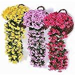 Hanging-Flowers-Artificial-Violet-Flower-Wall-Wisteria-Basket-Hanging-Garland-Vine-Flowers-Fake-Silk-Orchid-Simulation-Rattan-Plant-Vine-Wedding-Home-Garden-Balcony-Floral-Decoration6-Pack