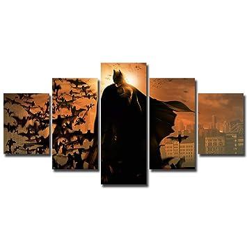 Batman Bats Photo Picture Art Print On Framed Canvas Wall Art Home Decoration