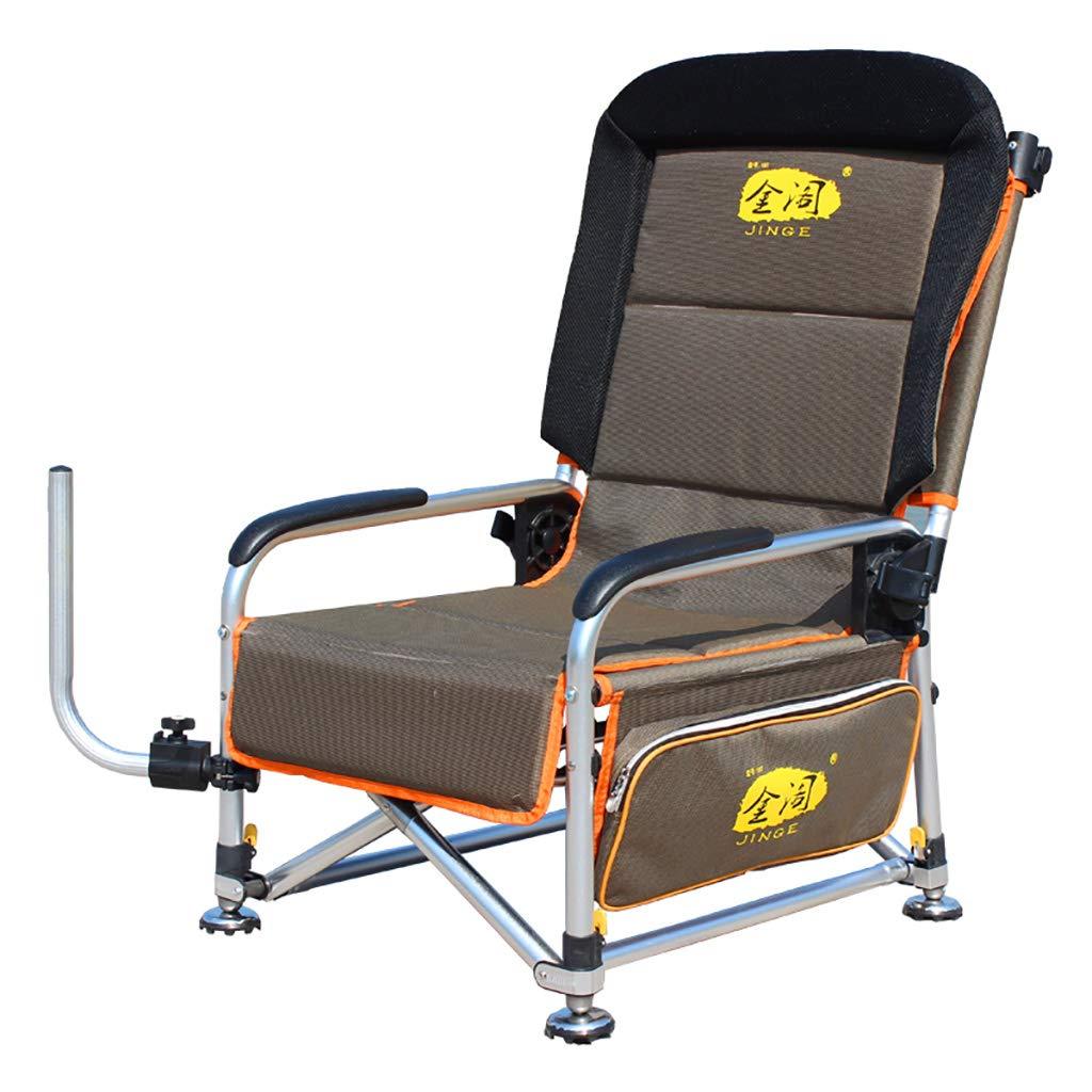 屋外ポータブル折りたたみ釣り椅子アームリクライニングチェアキャンプヘビーデューティ調節可能な脚快適なビーチ怠惰な椅子 550*630*990mm  B07PHJBVPL
