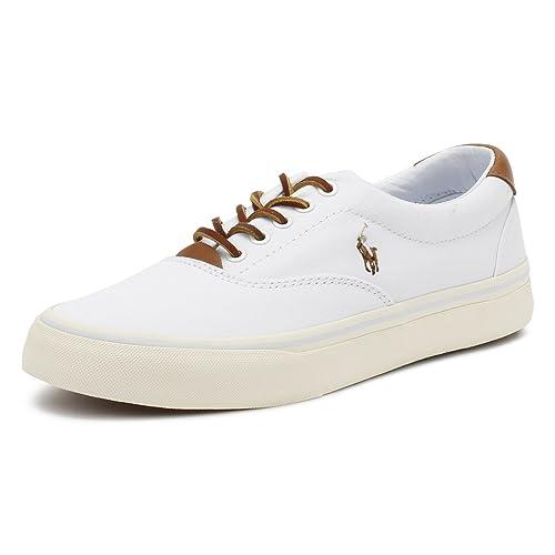 Ralph Lauren Hombres Blanco Thorton Zapatillas-UK 6: Amazon.es: Zapatos y complementos