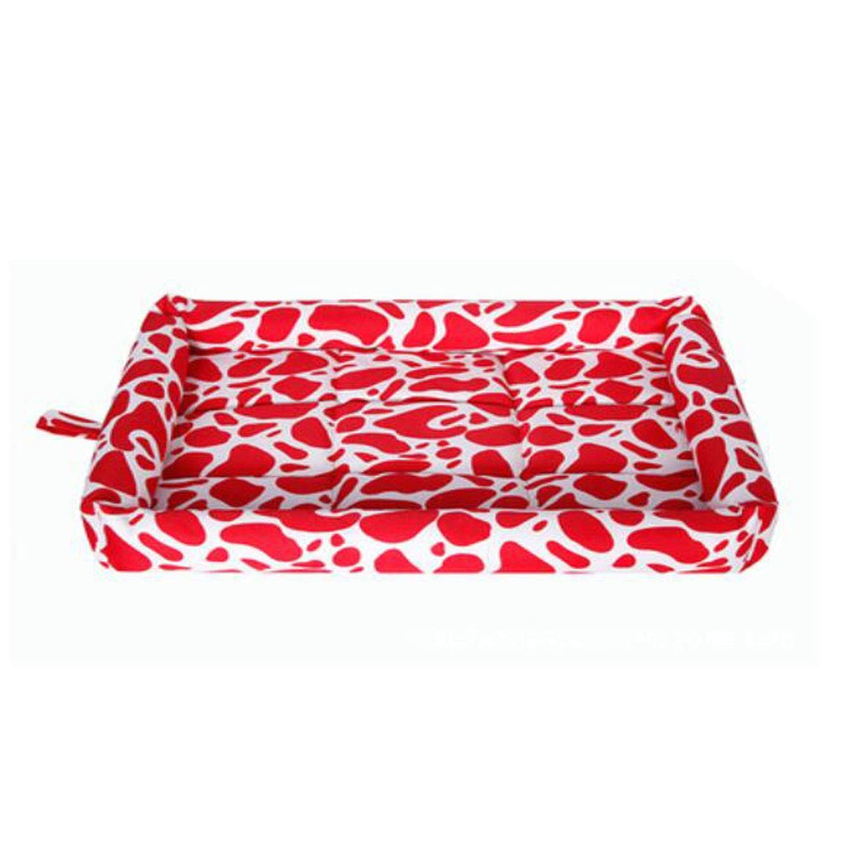Camouflage red XXL Dog Bed, Spring Large and Medium Dog Orthopedic Sleeping Bed, Can Be Placed On The Floor Car Dog Cage, Camouflage bluee, Camouflage orange, Camouflage Red XXL (color   Camouflage bluee, Size   XL)