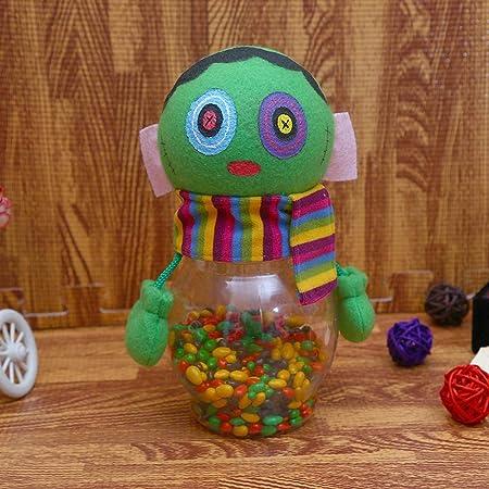 Y-YT Adornos de Halloween Calabaza plástico Transparente ...