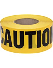 "Pioneer V6310240-O/S ""Caution"" Safety Barricade Tape, Indoor/Outdoor Black on Yellow Background, 3' X1000'"