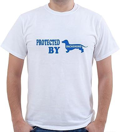 Camiseta de Manga Corta Unisex para Perros Dachshund: Amazon ...