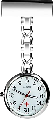 LingsFire Nurse Lapel Pin Watch Hanging Medical Doctor Pocket Watch Quartz Movement Nurses Fob Watch