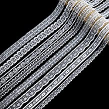 Laribbons Floral White Lace Trim Ribbon for Bridal Wedding Craft and Decorating, 8 * 5 Yard