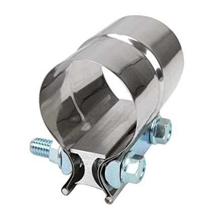 """3/"""" Stainless Steel Lap Joint Band Exhaust Clamp T304  3.0/"""" Step Clamp"""