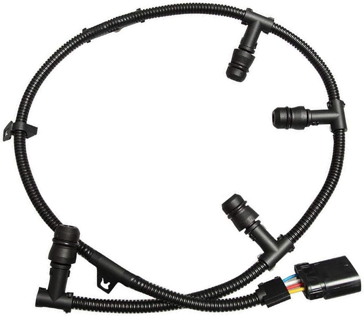 BETTERCLOUD Glow Plug Wire Harness Include 8 Glow Plugs 6.0l Powerstroke Fit for 2003 Ford F250 F350 3C3Z-12A690-AA 12A690 3C3Z12A690AA
