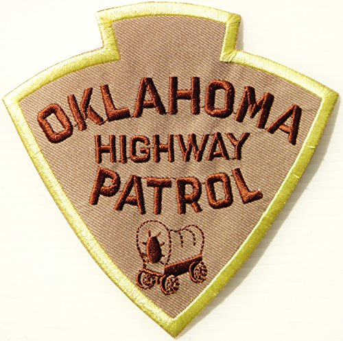 OKLAHOMA HIGHWAY PATROL Shield Logo Jacket Uniform Patch Sew Iron on Embroidered Sign Badge Costume