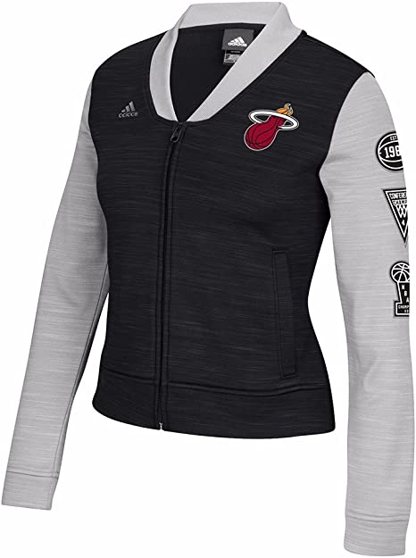 adidas Miami Heat NBA Negro Pista Chaqueta de Cremallera Completa ...