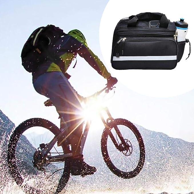 Bolsa de bicicleta Soporte botella agua Tubo delantero ...