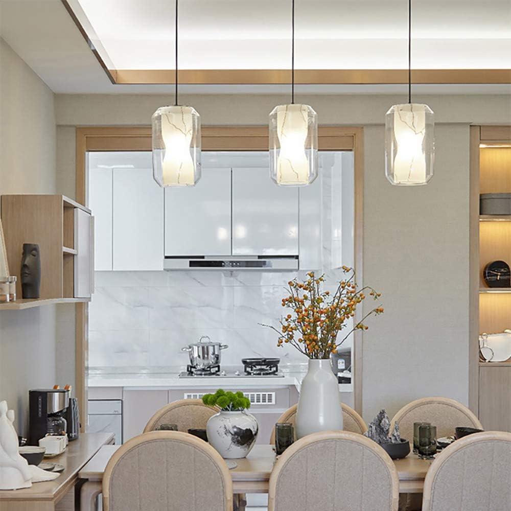 XIAOKUKU Einfache Schlafzimmer Kronleuchter, Creative Glass Kronleuchter, Glas Material E27 Licht ist weich und hell, Esszimmer und Wohnzimmer Beleuchtung Dekoration Lampshade,2 2