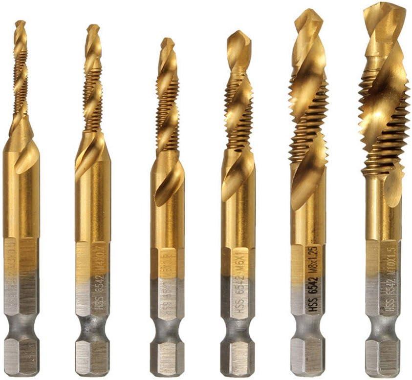 M10x1.5 Titanium Coated Screw Thread Metric Spiral Fluted Machine Screw Tap Tool Accessories Drill Bits