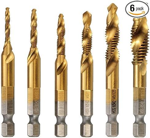 M5*0.8 Metric HSS Titanium Screw Tap Drill Bit Deburr Punching Right Threaded