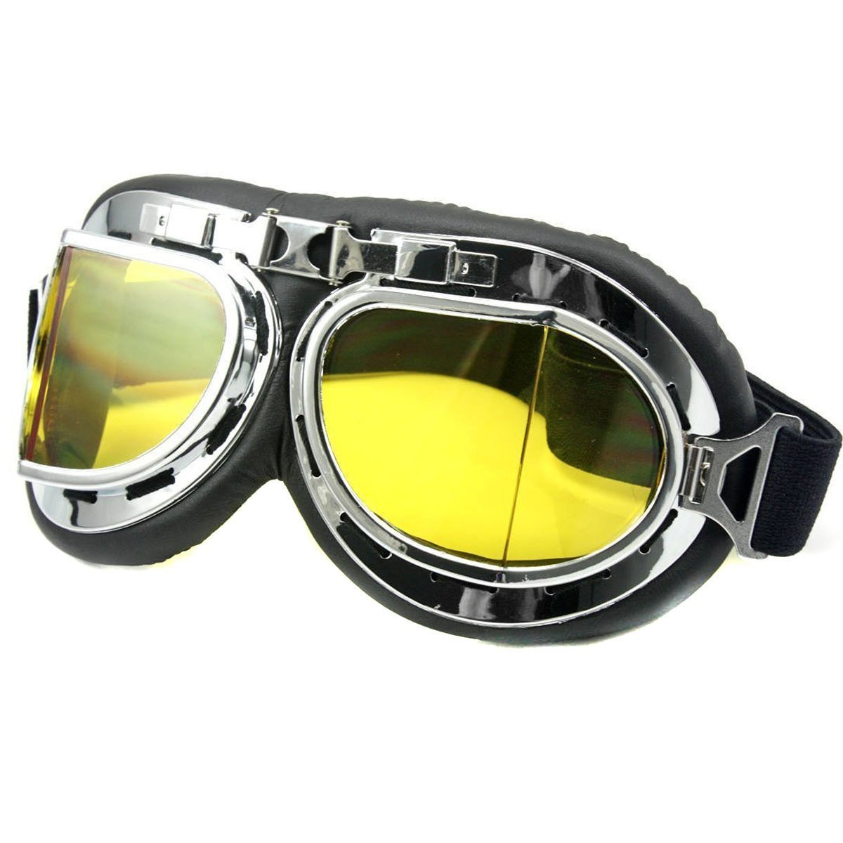 Fletion Raf Pilot,Scooter Biker,Motocross,Cruisers,Chopper Motorcycle Fly Safety Goggles,Sports Protective Safety Glasses Sun UV Wind Eye Protect Helmet Goggles
