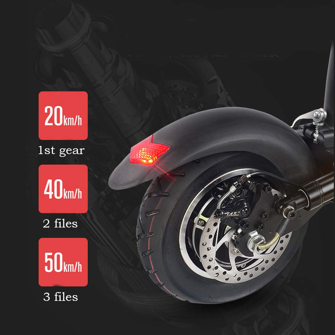 Battery 36V//400W with Seat 40~50km 10-inch Two-Wheeled Adult Folding Electric Bicycle with LED Lights Unisex Sports Scooter Electric Scooter