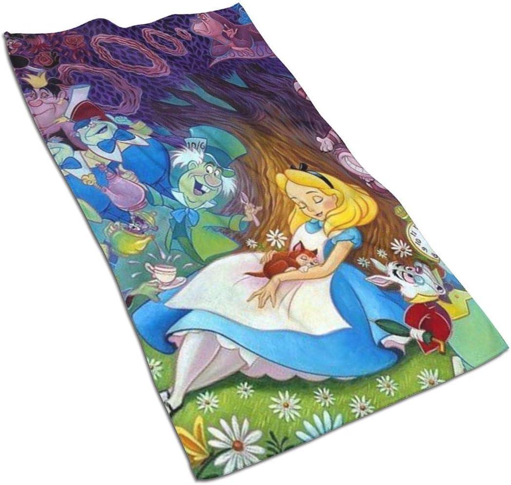 27,5 x 17,5 Pollici EXking Asciugamani Alice nel Paese delle Meraviglie Asciugamano Morbido Super Assorbente ad Asciugatura Rapida//Asciugamano da Bagno//Asciugamano da Spiaggia