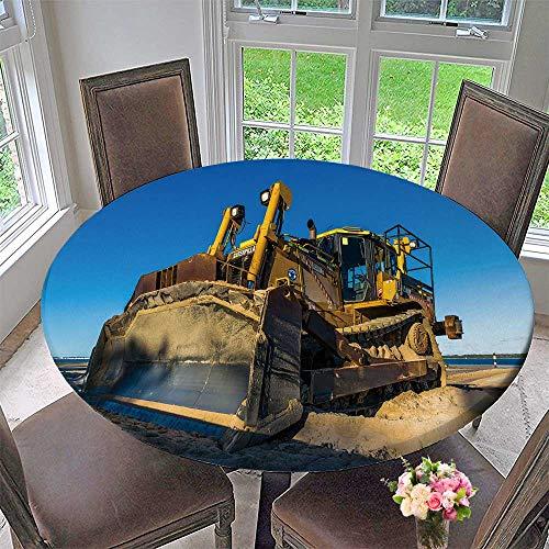 - PINAFORE HOME Round Premium Table Cloth sans souci NSW Australia jun Caterpillar Dozer Multi Terrain Loader sans souci Perfect for Indoor, Outdoor 43.5