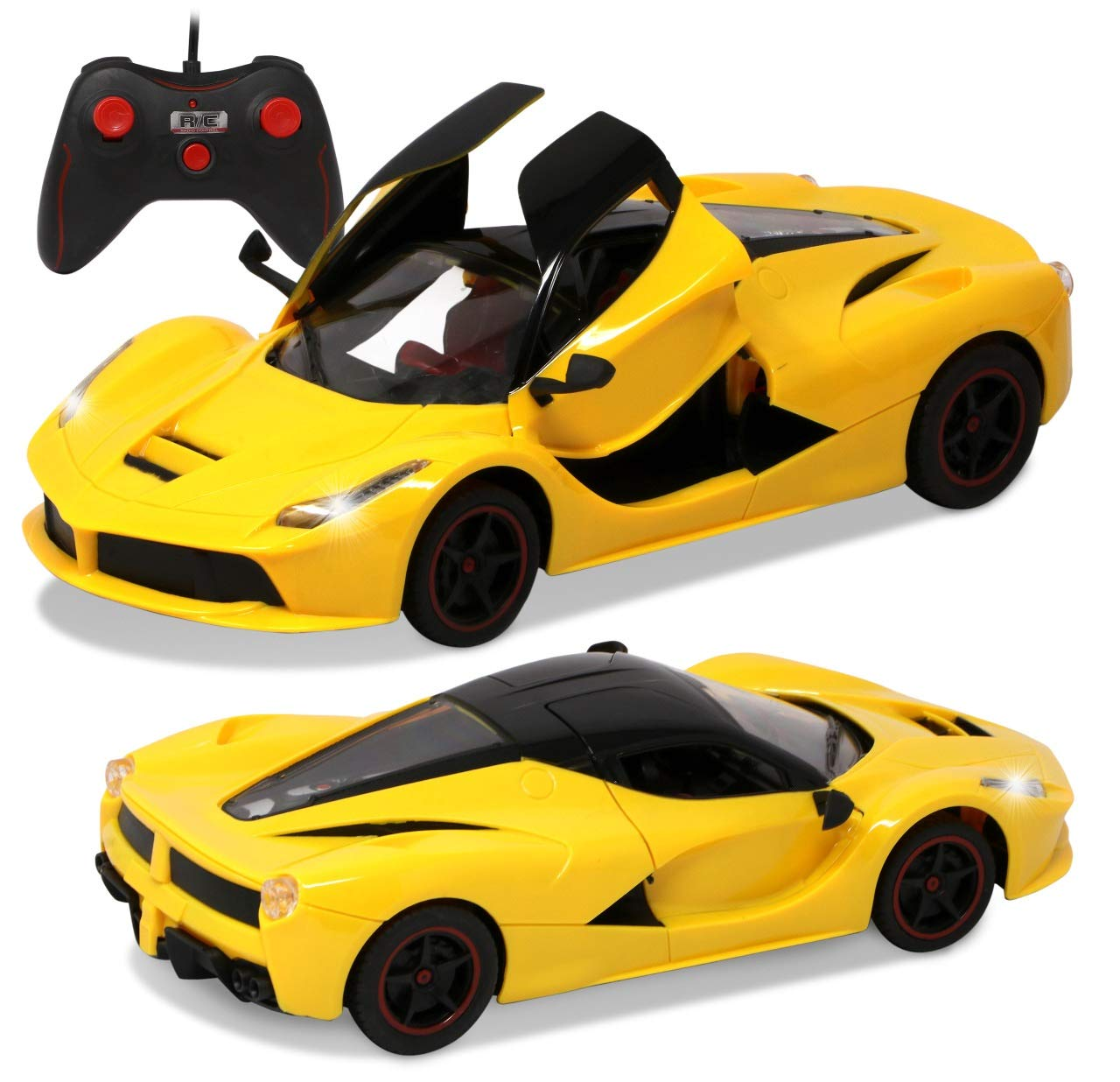 Buy Zest 4 Toyz Remote Controlled Ferrari Like Model Sports Car With Openable Doors Yellow Online At Low Prices In India Amazon In