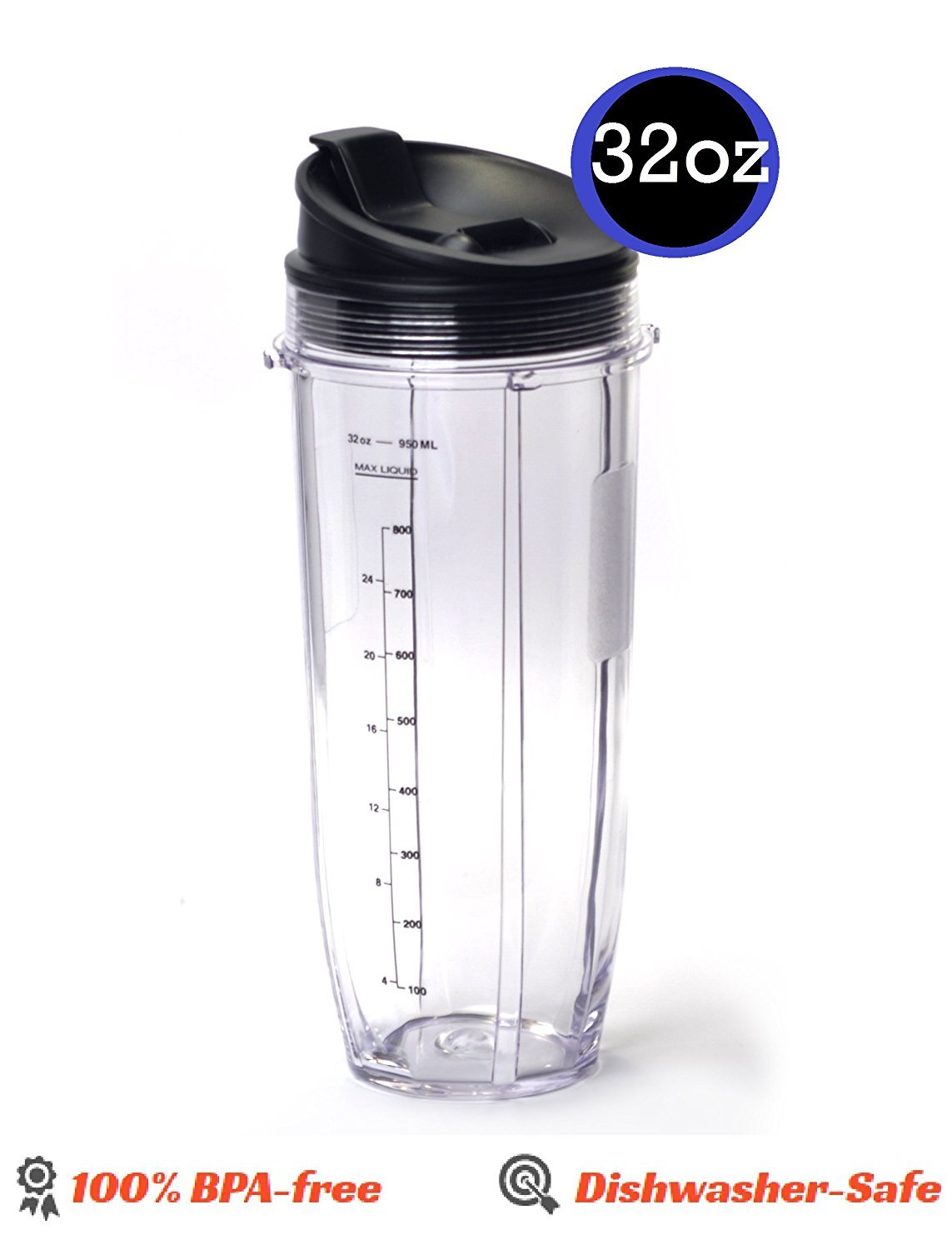 32OZ Large Multi-Serve Cup with Sip And Seal Lid replacement part for Nutri NutriNinja Auto iQ