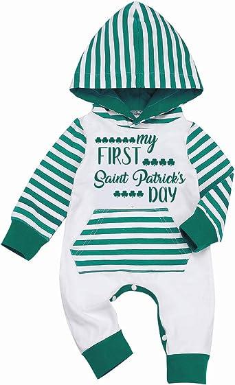 6//9 Months Saint Patrick/'s Day Onesie NB Gray Tank My Baby/'s 1st First St