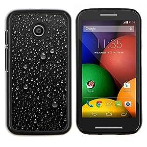 """Be-Star Único Patrón Plástico Duro Fundas Cover Cubre Hard Case Cover Para Motorola Moto E / XT1021 / XT1022 ( Rocío de agua de lluvia fresca Refrescante Negro"""" )"""