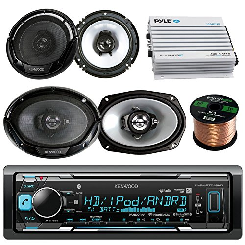 (Kenwood KMM-BT518HD in-Dash Stereo Receiver with 2 6x9 and 2 6.5