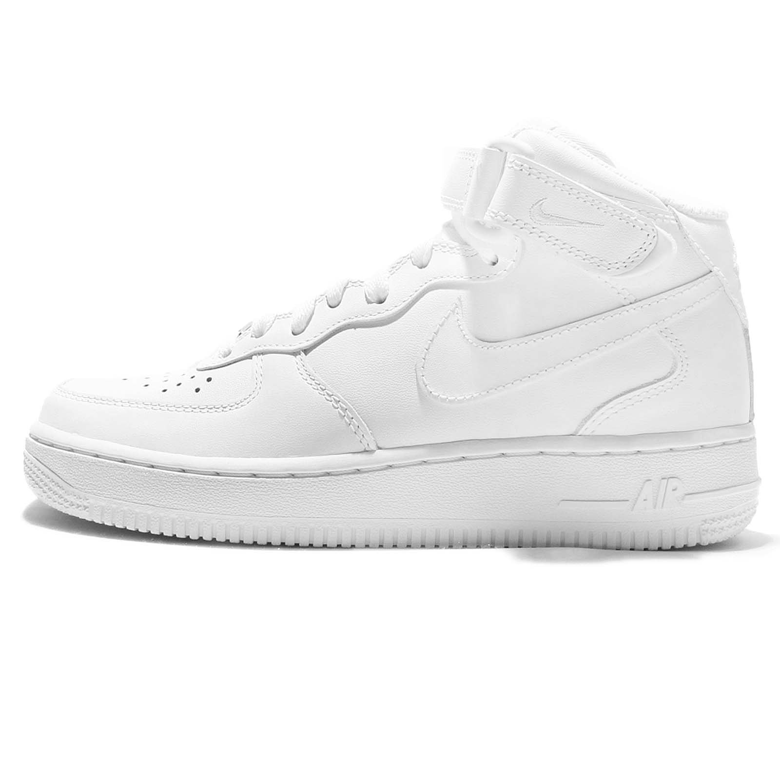 NIKE Wmns Air Force 1 Mid 07 Leather Women Lifestyle Casual Sneakers New All White - 8 by NIKE