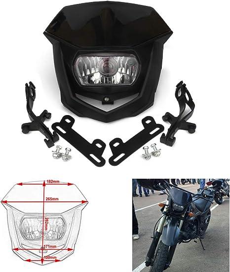 Noir Phare avant Phare Carénage Universel pour Streetfighter Moto Dirt Bike