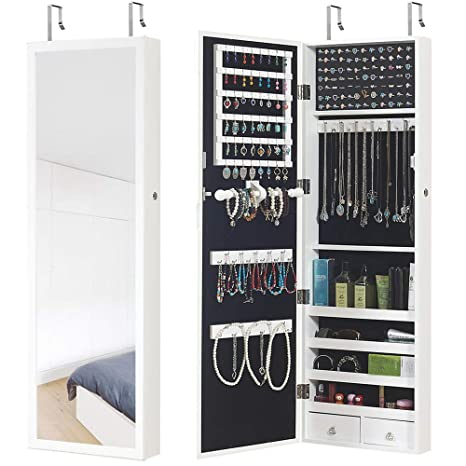 Amazon Com Gissar Jewelry Cabinet Jewelry Armoire Wall Door Mount