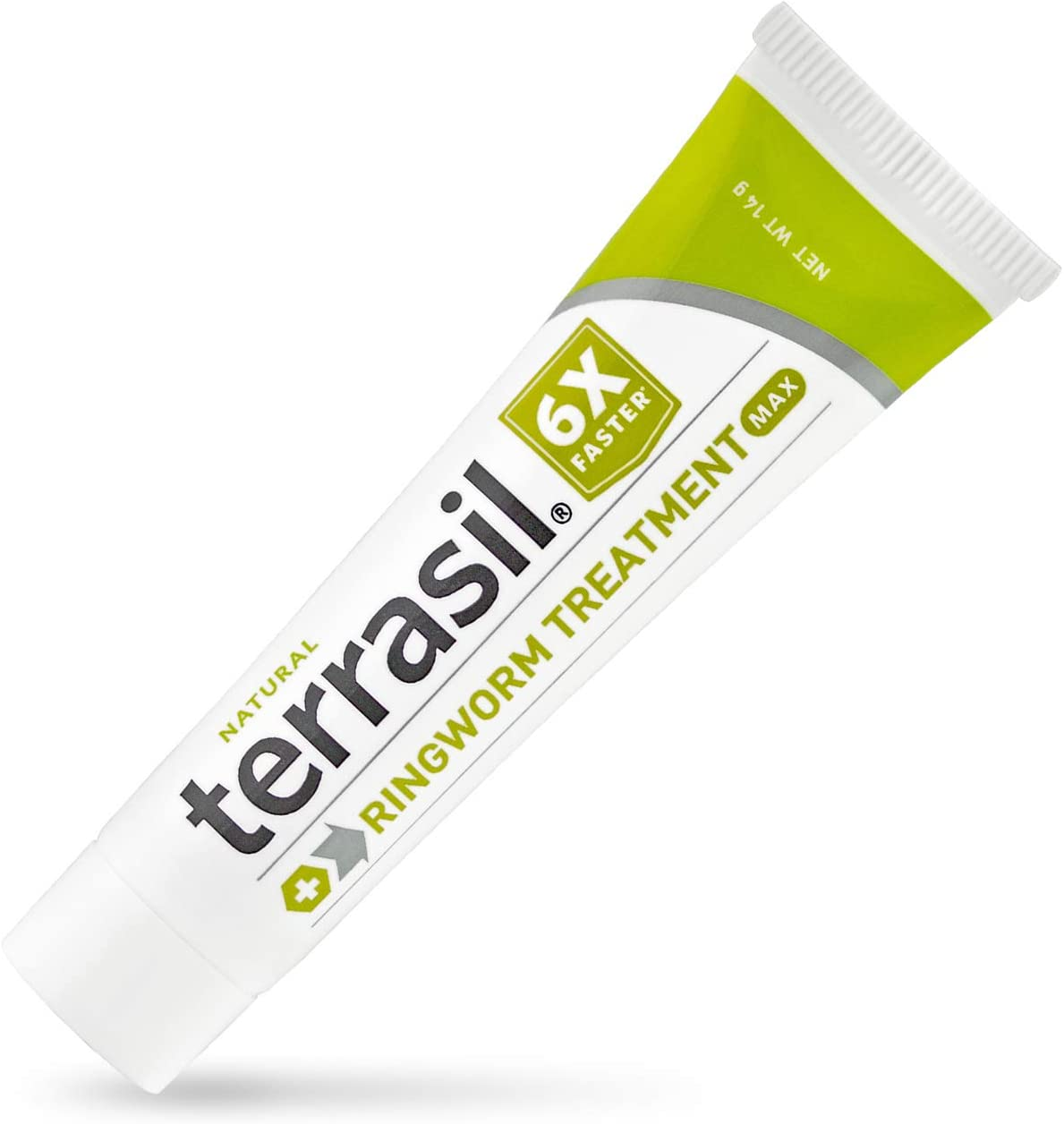 terrasil Ringworm Treatment MAX - 6X Faster Patented Natural Anti-Fungal Ointment for itching Burning Pain Inflammation & Irritation from Ringworm Skin Infection - 14g Tube