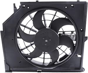 ECCPP Radiator Condenser Cooling Fan Assembly Replacement fit for 2001 2002 2003 2004 2005 BMW 320i 325Ci 325i 328i 330Ci 330i 330xi
