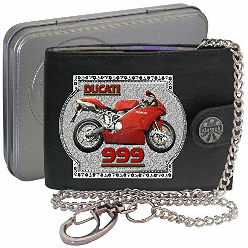 Ducati 999 Klassek Herren Geldbörse Geldbeutel Portemonnaie mit Kette Motorrad Zubehör Bike