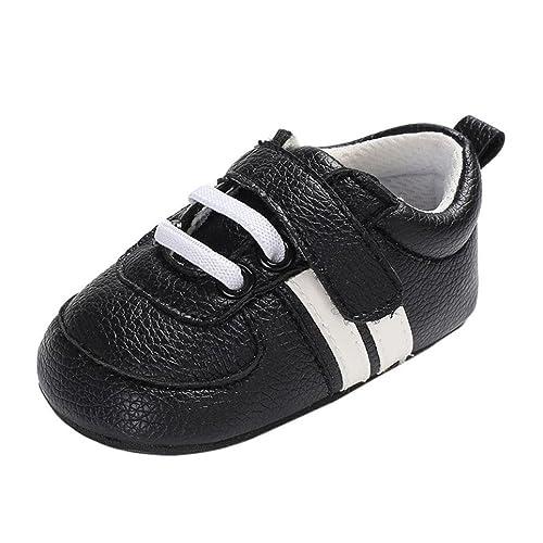 Logobeing Zapatos de Bebé Botines Zapatillas Deportivas Para Bebés Recién Nacidos Primeros Pasos Antideslizante Inferior Suave
