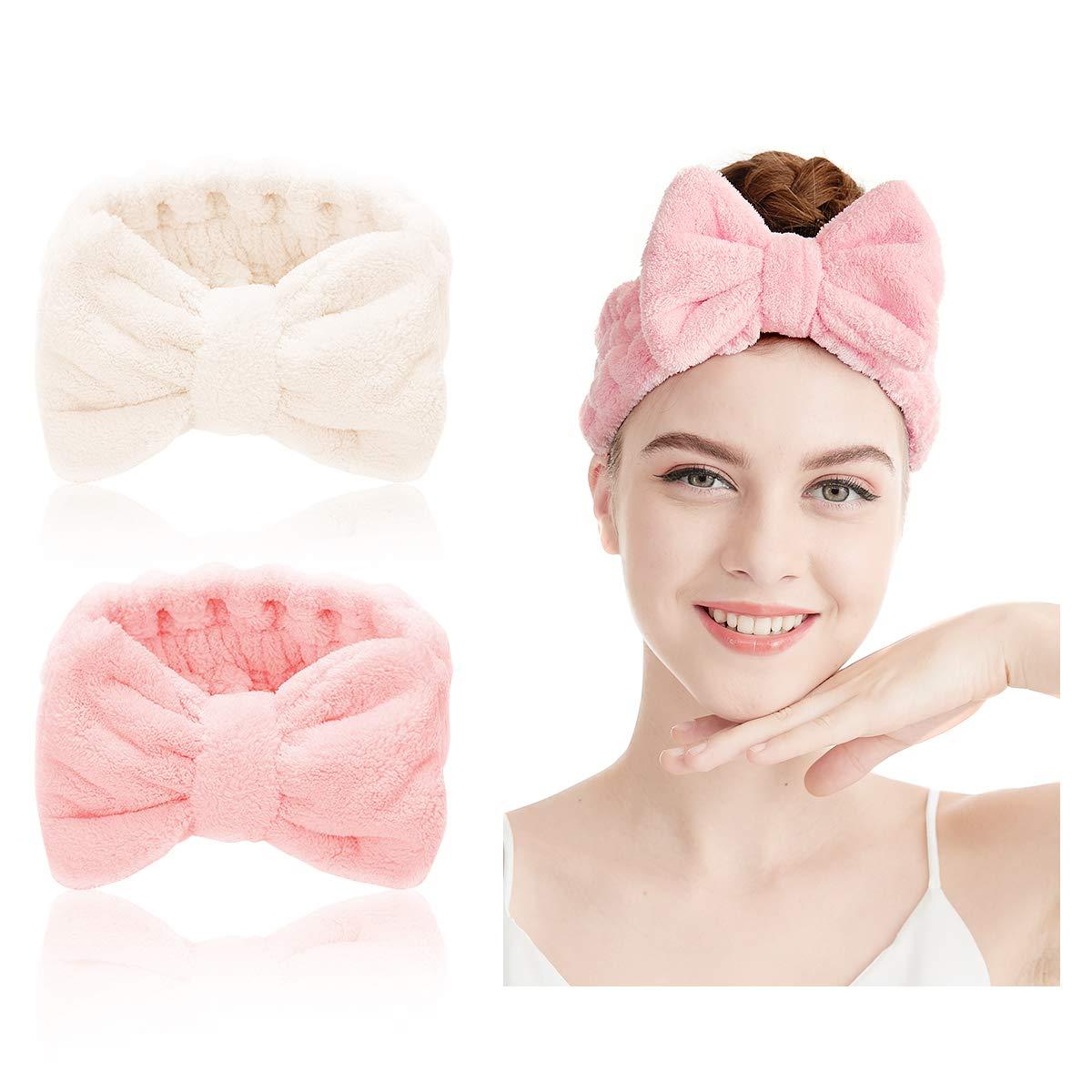 Details about  /Elastic Adjustable Towel Wrap Head Band Facial Salon Make Up SPA Beauty CSL2