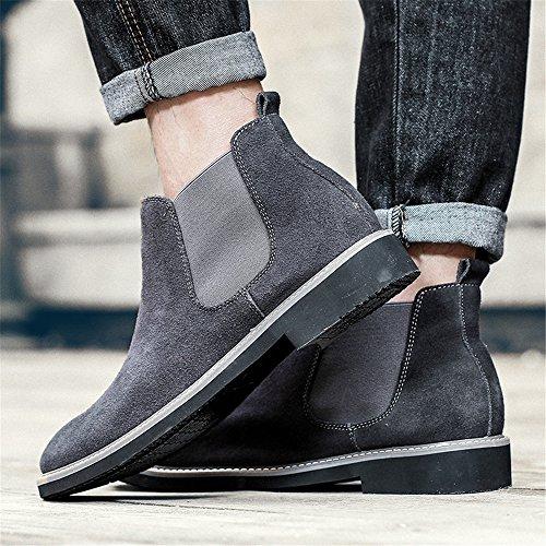 boots velvet gray stivali gli martin gli chelsea sono uomini moda stivali Forty e stivali di qq607pn